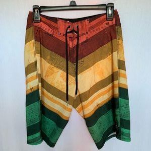 Men's Reef Multicolored Board Shorts Size 28